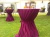 Stehtische für Sektempfang zur Hochzeit   © Uwe Stoffel