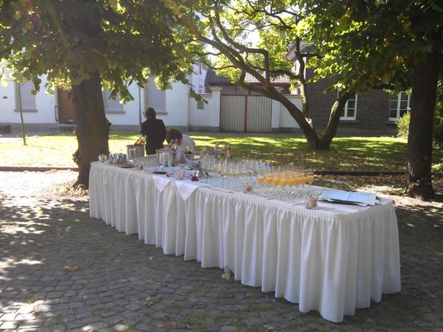 Sektempfang zur Hochzeit in Kerken Aldekerk Bild-4