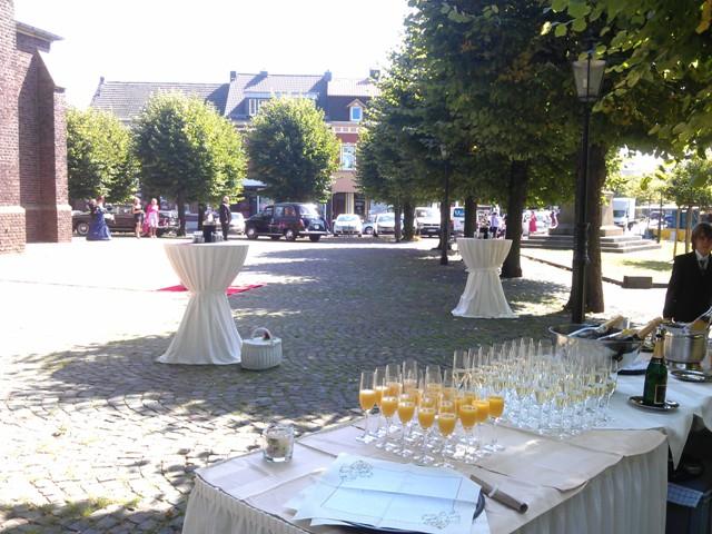 Sektempfang zur Hochzeit in Kerken Aldekerk Bild-5