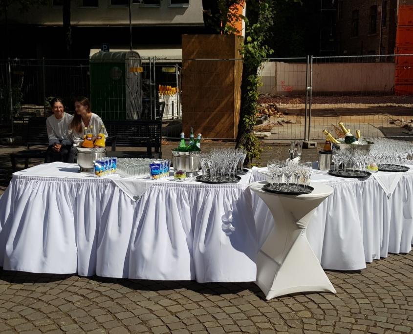Sektempfang zu Hochzeit in Köln